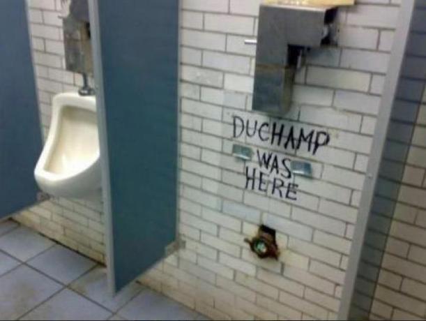 duchamp was here urinal pisuvar wc